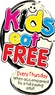 Kids eat free every Thursday